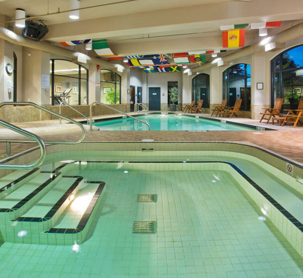 Indoor swimming pool at the Holiday Inn North Vancouver