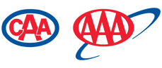 Red, white and blue CAA or Canadian Automobile Association small sized logo