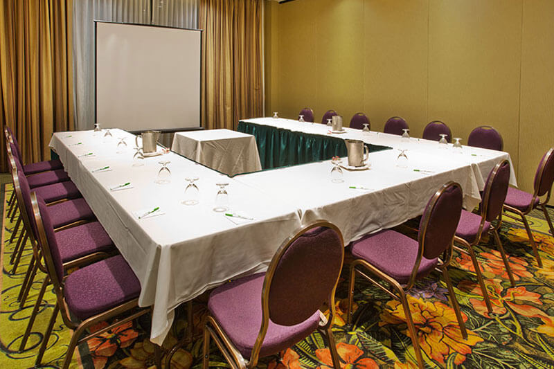 Meeting room set up for visual presentations at Holiday Inn North Vancouver