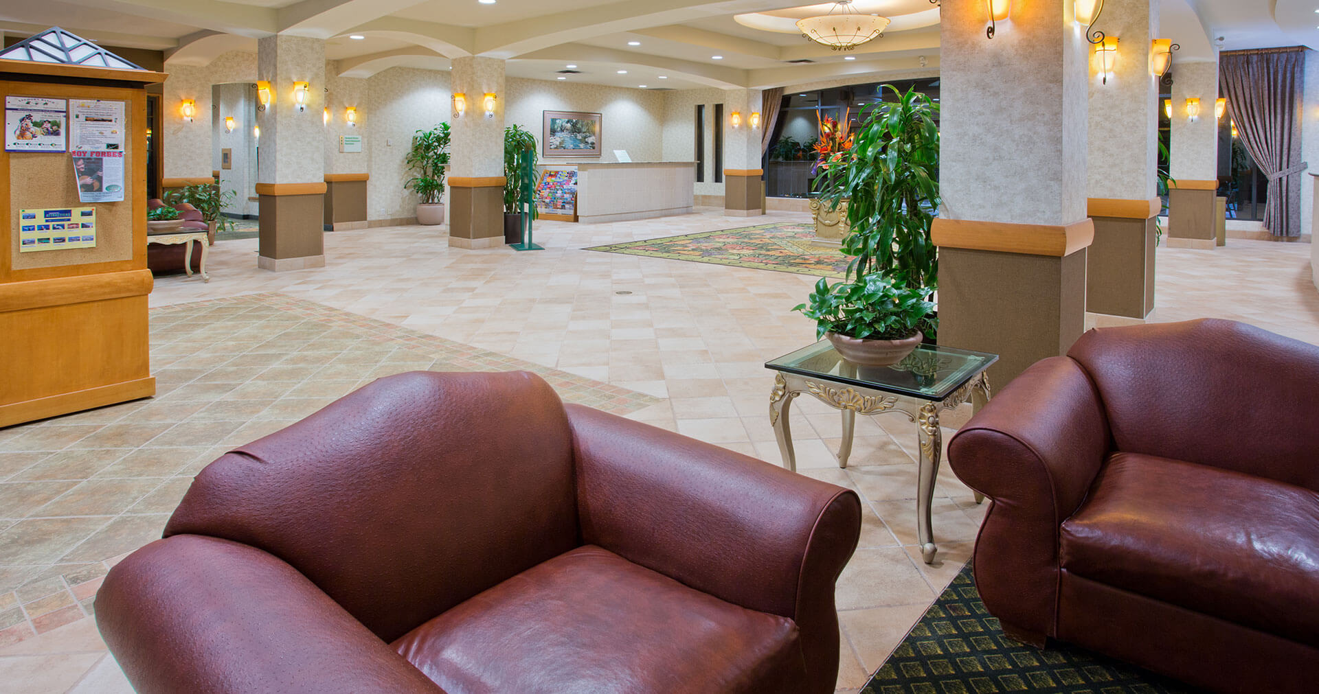 Hotel lobby of the Holiday Inn North Vancouver