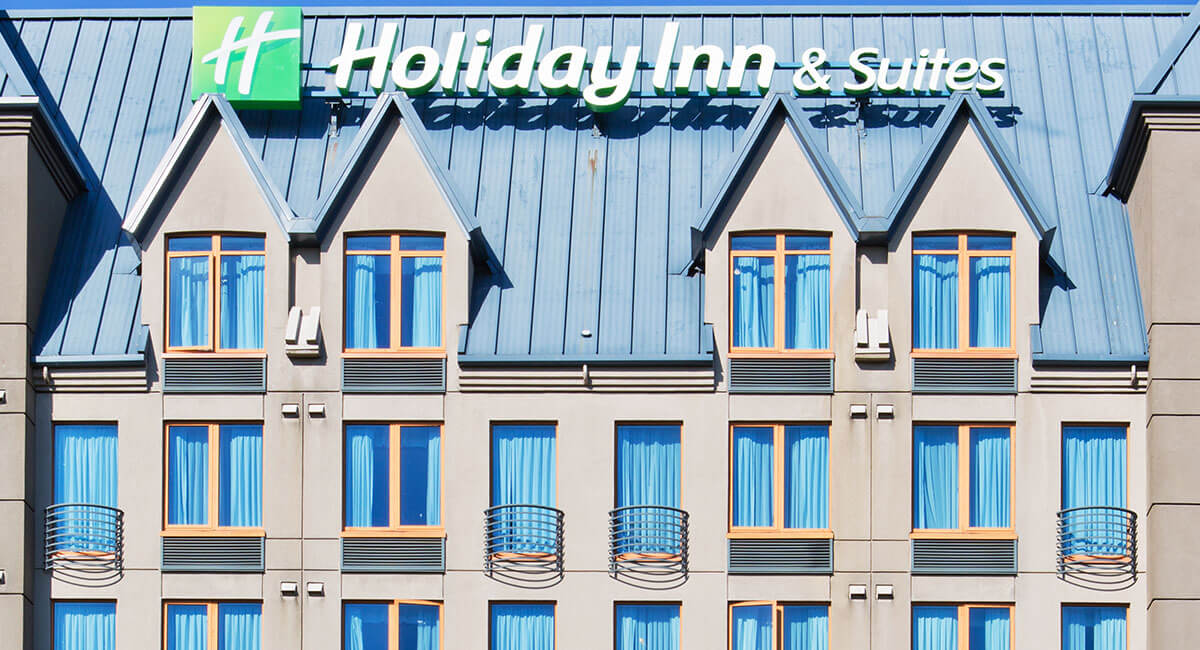 Frontal view of the Holiday Inn North Vancouver and signage