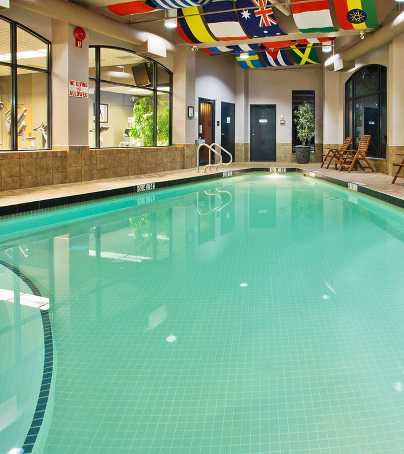 Heated indoor pool at the Holiday Inn North Vancouver