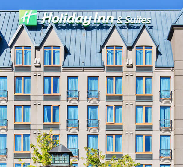 Hotel front of the Holiday Inn North Vancouver