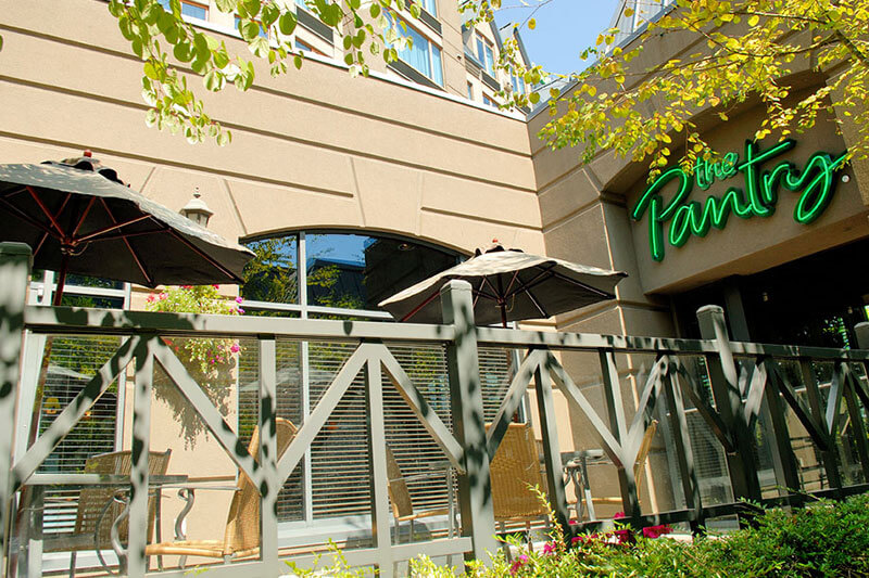 Exterior of the Pantry Restaurant, located onsite at the Holiday Inn North Vancouver